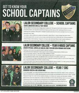 Meet the School Captains